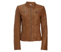 Jacke im authentischen Leder-Look