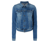 Jeansjacke im Stone Washed Look