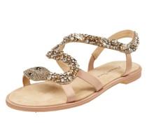 Sandalen mit Strasssteinen