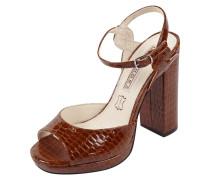 Sandaletten in Krokolederoptik mit Blockabsatz