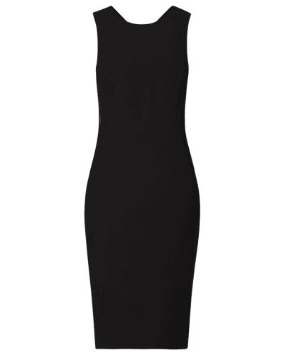 Kleid aus Viskose mit breiten Trägern
