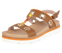 Sandalen aus Leder mit Ösen