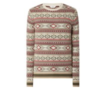 Pullover mit Allover-Muster Modell 'Pinto'