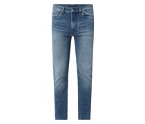 Skinny Fit Jeans mit Stretch-Anteil Modell 'Slick'