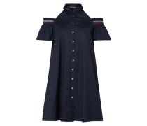 Cold-Shoulder-Blusenkleid mit kurzen Ärmeln