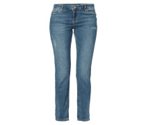 Slim Fit 5-Pocket-Jeans im Used Look