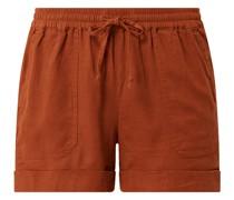 Shorts aus Leinen-Viskose-Mix