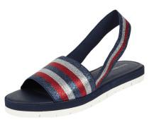 Sandalen mit Logo-Streifen