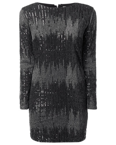 Kleid aus Mesh mit Effektgarn und Pailletten