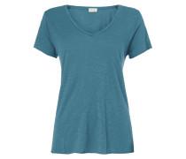 Shirt aus Slub Jersey mit offenen Abschlüssen