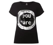 T-Shirt mit Kontrastvorderseite