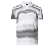 Slim Fit Poloshirt mit Streifenmuster