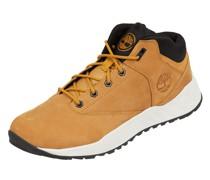 High Top Sneaker aus Leder und Textil Modell 'Solar Wave'