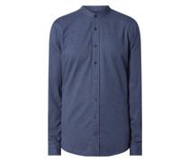 Slim Fit Flanellhemd aus Baumwolle Modell 'Hedde'