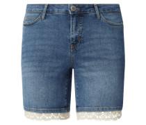 PLUS SIZE Jeansshorts mit Häkelspitze Modell 'Five'