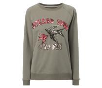 Sweatshirt mit Pailletten-Besatz