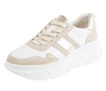 Plateau-Sneaker aus Leder Modell 'Nava'