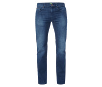 Stone Washed Relaxed Fit 5-Pocket-Jeans