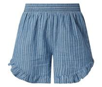 Shorts aus Baumwoll-Leinen-Mix Modell 'Tiffany'
