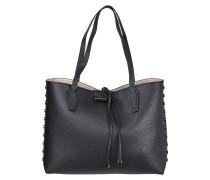 Wende-Shopper mit Nietenbesatz und herausnehmbare Reißverschlusstasche