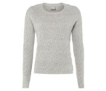Pullover mit eingestricktem Zickzack-Muster