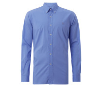 Slim Fit Hemd mit Button-Down-Kragen