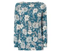 Blusenshirt aus Seide mit floralem Muster