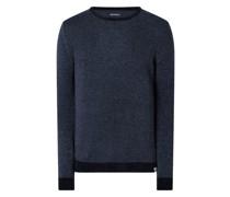 Pullover mit Woll-Anteil und Samtgarn Modell 'Sören'
