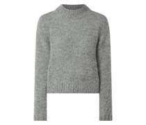 Cropped Pullover mit Alpaka-Anteil