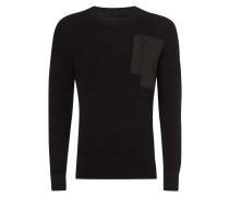 Pullover mit Brusttasche und Kontrastbesatz