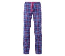 Pyjama-Hose aus Flanell mit Metallic-Effektgarn