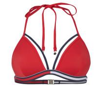 Bikini-Oberteil mit Logo-Streifen am Bund
