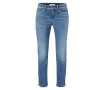 Stone Washed Ankle Cut Jeans mit Ziersteinen