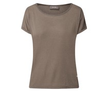 T-Shirt mit angeschnittenen Ärmeln