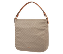 Hobo Bag mit Logo-Muster