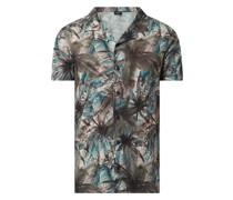 Regular Fit Freizeithemd aus Jersey mit kurzem Arm Modell 'Ipanema'