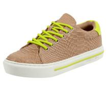 Sneaker aus Leder in Krokooptik