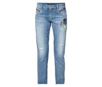 Leisure Fit Jeans mit Aufnähern