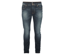 Used Look Straight Fit 5-Pocket-Jeans
