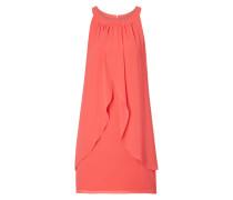 Kleid aus Chiffon mit Collierkagen