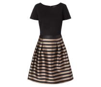 Kleid mit Streifenmuster in schimmernder Optik