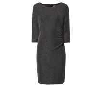 Kleid mit Zickzack-Muster aus Effektgarn