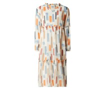 Kleid aus Chiffon im Stufen-Look Modell 'Nunanon'