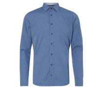 Body Fit Freizeithemd mit Allover-Muster