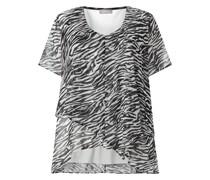 PLUS SIZE Blusenshirt mit Zebramuster