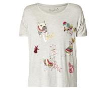 Shirt mit Prints und Pailletten