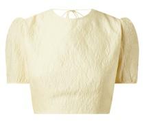 Cropped Blusenshirt mit Puffärmeln