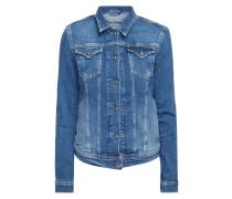 Jeansjacke mit Umlegekragen