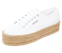Sneaker aus Canvas mit Plateausohle