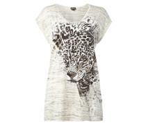 Shirt mit Leoparden-Print und Nieten